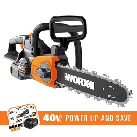 "WORX WG380 40V 12"" Cordless Chainsaw with Auto Tensioning and Lubrication Chain System - YMMV - $79 Walmart In-Store"