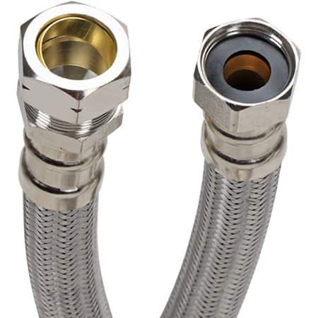 "Fluidmaster 3/4"" Braided Stainless Steel Water Heater Hoses $4 and $6"