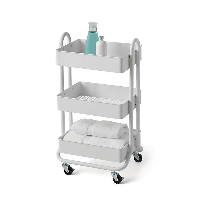 Bed Bath Beyond - SALT™ 3-Tier Bath Storage Cart in White
