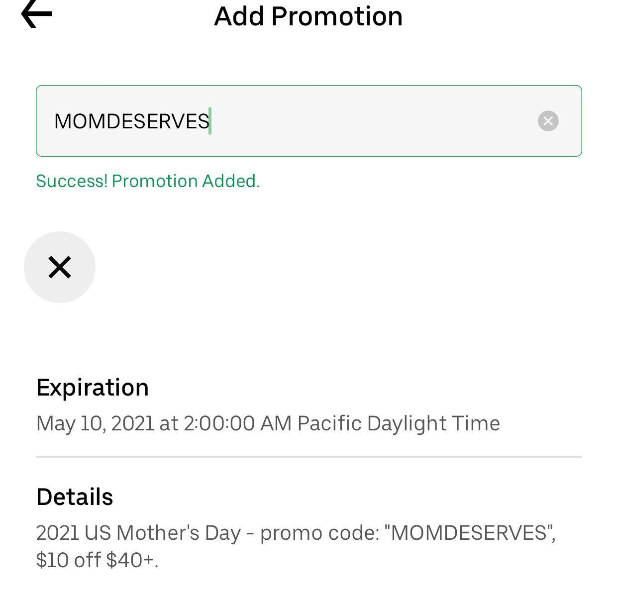UberEats- Save $10 on your next order of $40+ YMMV