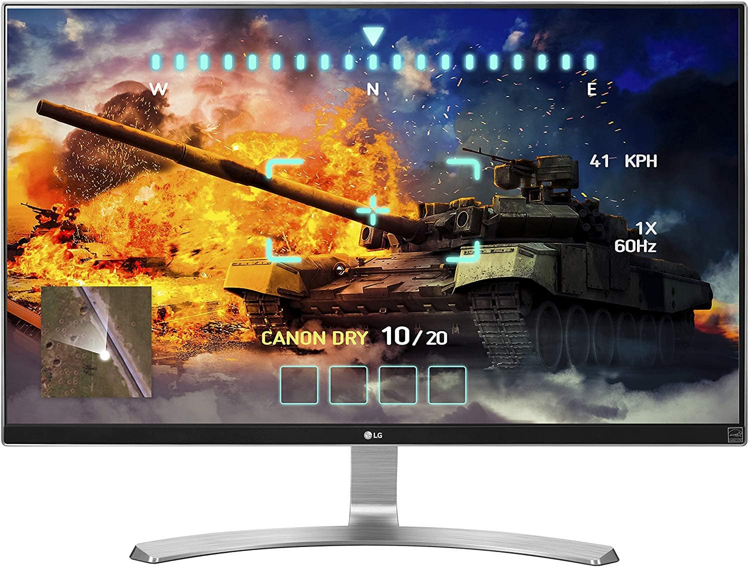 Roll over image to zoom in LG 27UD68-W 27-Inch 4K UHD IPS Monitor with FreeSync, Silver/White  $300