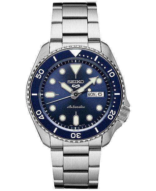 Seiko Men's Automatic 5 Sports Watch w/ Stainless Steel Bracelet