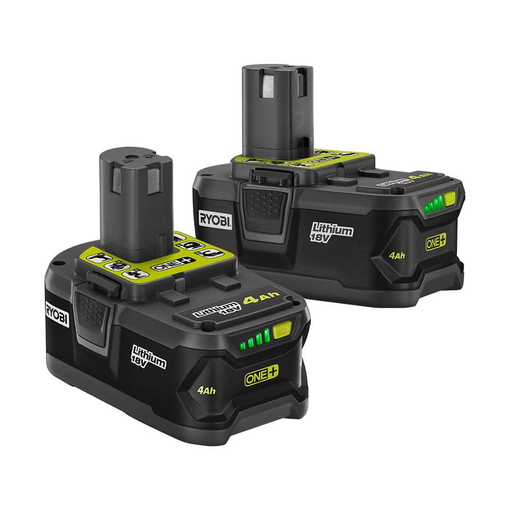 RYOBI 18-Volt ONE+ 4.0 Ah Lithium-Ion Battery (2-Pack)-P145 - The Home Depot $79