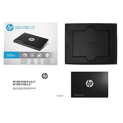 "HP Solid State Harddrive S700, 500GB 2.5"" SATA III 3D NAND - $45 @ Staples.com w/ online code and free pickup $44.99"