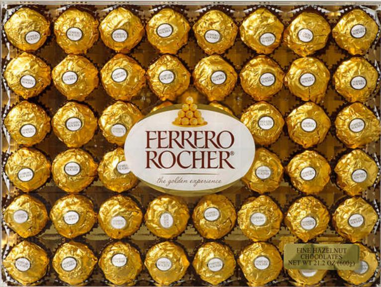Ferrero Rocher Fine Hazelnut Chocolates, 21.2 oz  Costco in store for $8.99