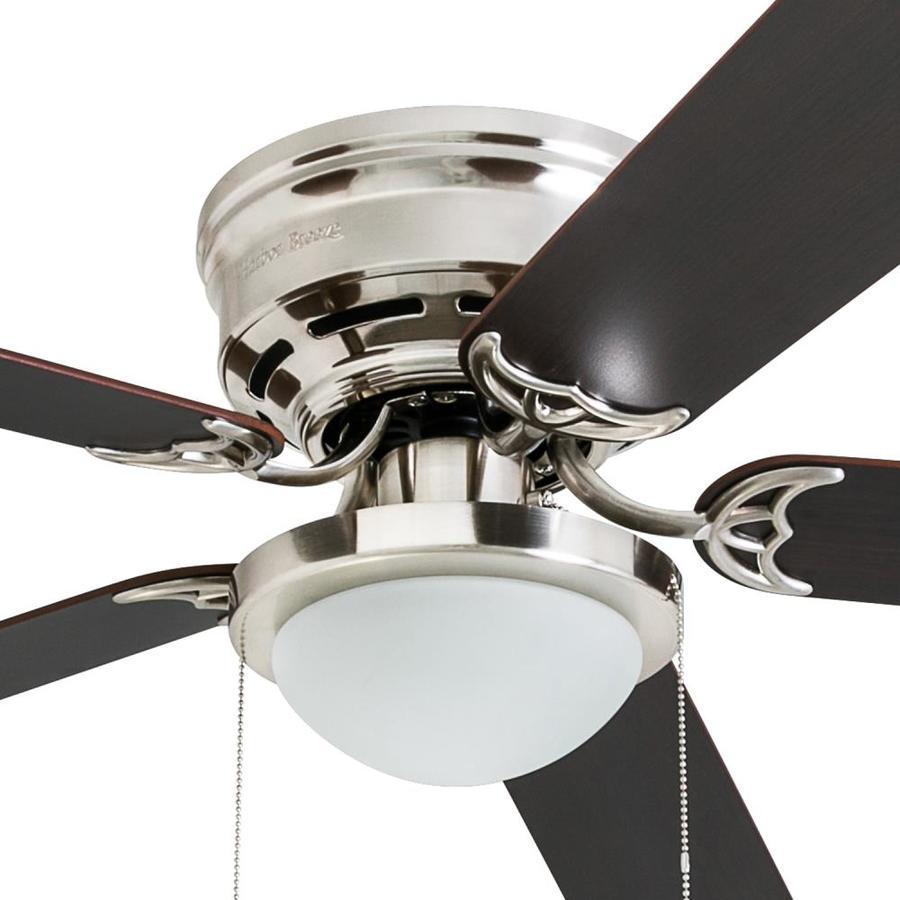 Harbor Breeze 52 In Led Flush Ceiling Fan With Light Kit 5 Blade 39 96 Slickdeals Net