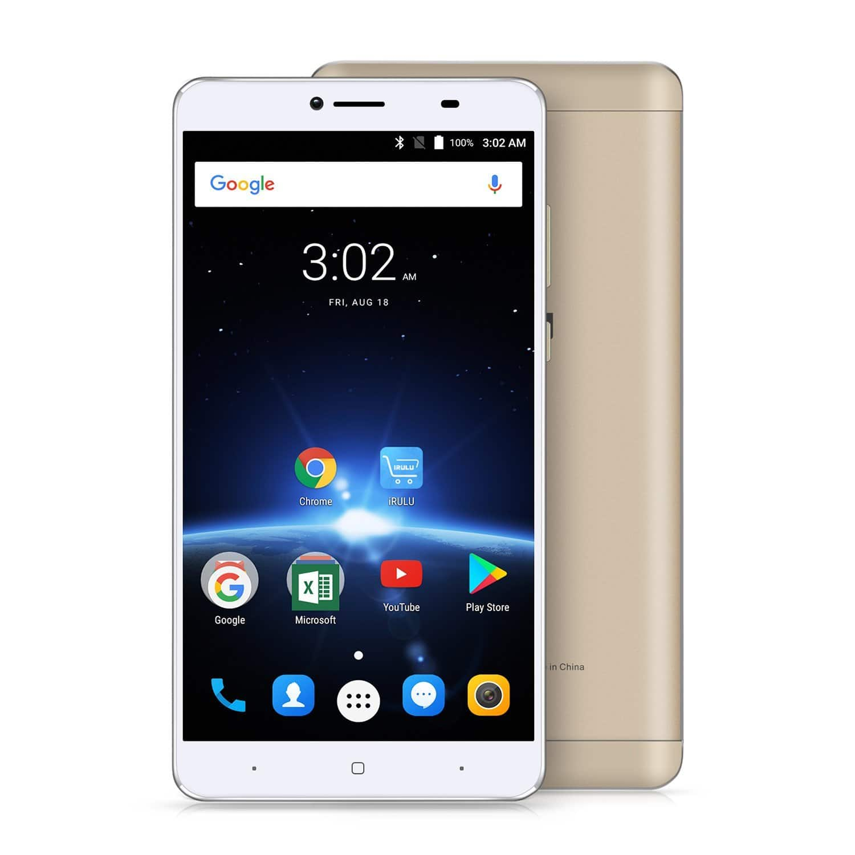 "6.5"" FHD Android 7 iRULU GeoKing 3 Max Smartphone Fingerprint $79 AC"