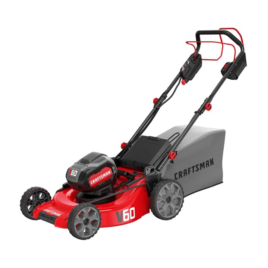 YMMV - B&M Only - CRAFTSMAN V60 60-volt Max Lithium Ion Self-propelled 21-in Cordless Electric Lawn Mower - $199.6