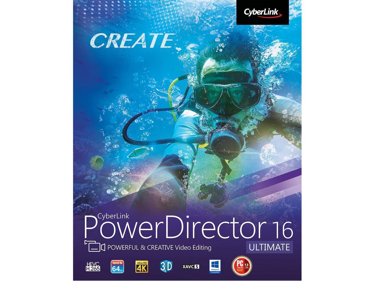 CyberLink PowerDirector 16 Ultimate Newegg.com with promo code EMCXEES43 $44.99