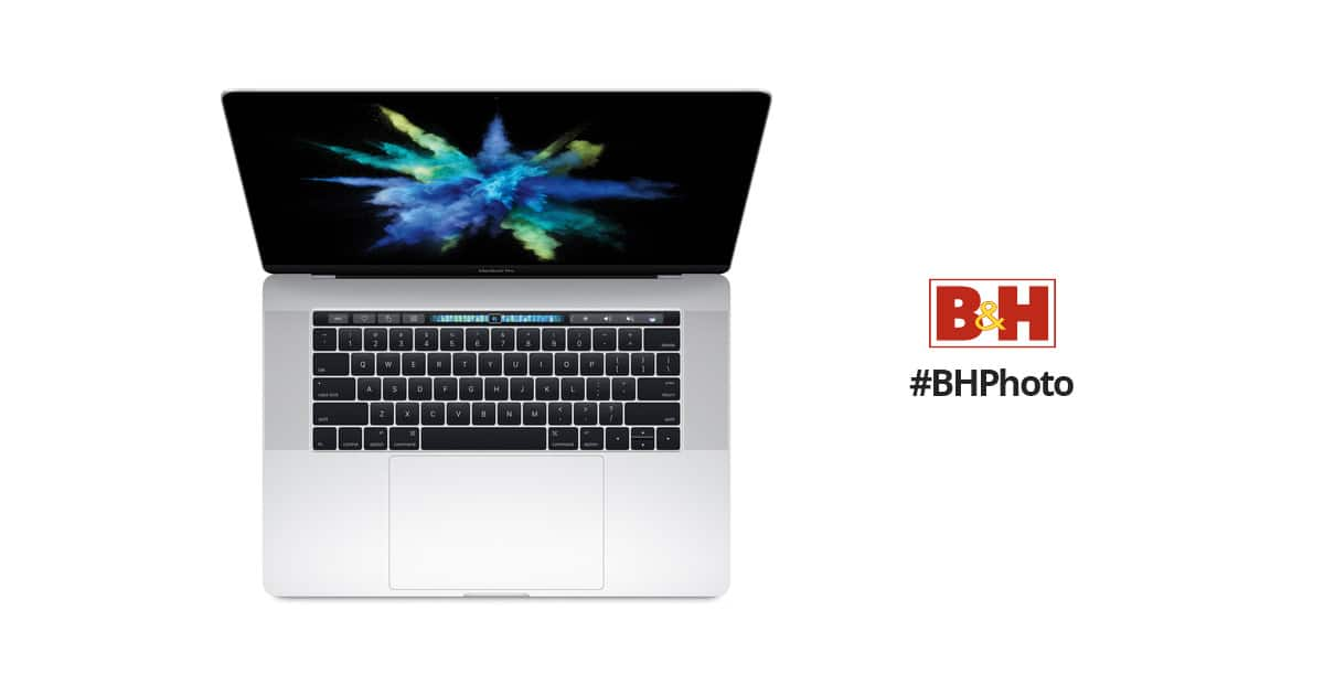 """Silver 15.4"""" MacBook Pro with Touch Bar, 2016 - B&H Daily, $2,299.00 $2299"""
