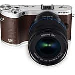 Samsung - NX300 Mirrorless Camera with 18-55mm Lens - Brown - OPEN BOX $315.99