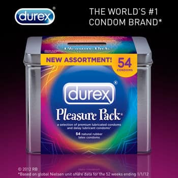 54 Condoms DUREX Pleasure Pack, $13.99 + tax Free Shipping at Costco Online