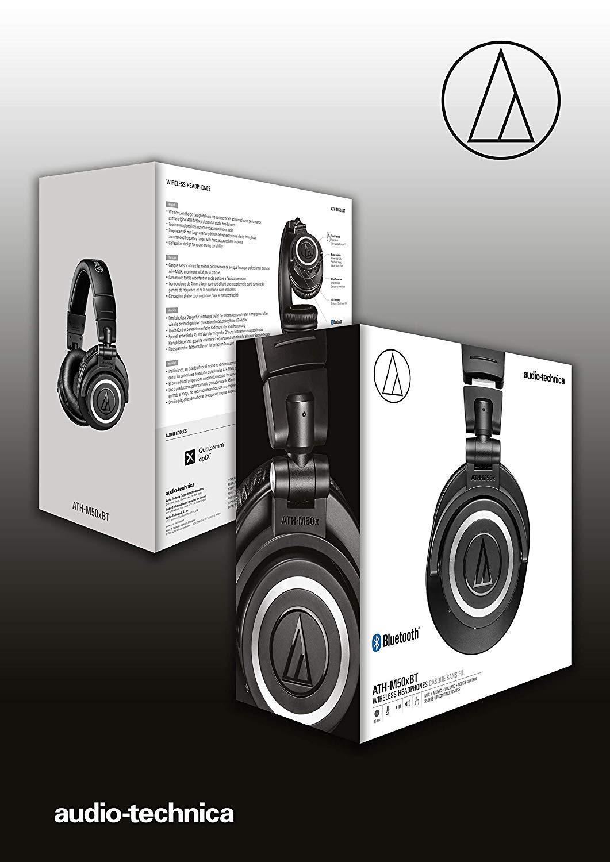 Audio Technica Ath M50xbt Wireless Bluetooth Over Ear Headphones