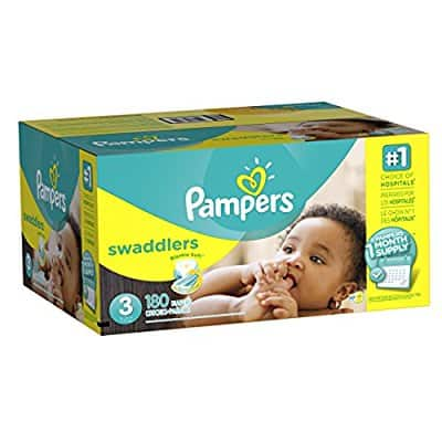 Amazon has for their Prime Members with Amazon Family: 180-Ct Pampers Swaddlers Diapers (Size 3) for $19.90 when you checkout via Subscribe & Save. Shipping is free.