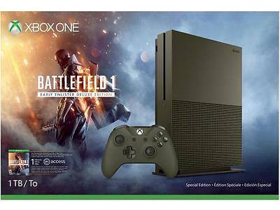 New Xbox One S 1 TB Console - Battlefield 1 Special Edition Bundle - $240 + FS Newegg via eBay