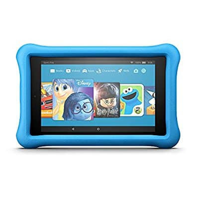 "All-New Fire HD 8 Kids Edition Tablet, 8"" HD Display, 32 GB, Blue Kid-Proof Case for $100 & Fire 7 Kids Edition Tablet, 7"" Display, 16 GB, Blue Kid-Proof Case for $80 w/coupon code"
