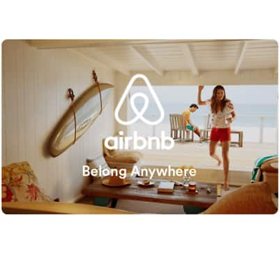 $100 AirBnB Gift Card for $91 - Email delivery @ eBay