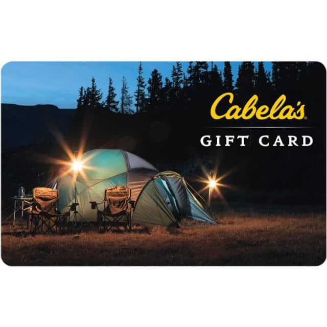 $100 Cabela's gc for $82 + FS svmgiftcards via eBay