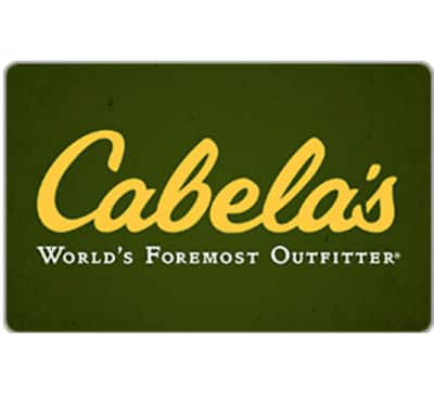$100 Cabela's gc for $85 + fast email delivery @ eBay