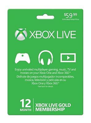 Xbox Live 12 Month Gold Membership for $42.99 + fs @ eBay
