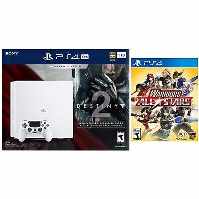 New PlayStation 4 Pro 1TB Limited Edition Destiny 2 Bundle(White)+ Warrior All Stars for $450 + FS Newegg via eBay