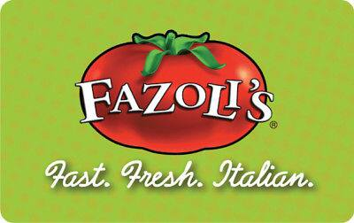 $25 Fazoli's Gift Card + $5 Bonus Coupon - FREE Mail Delivery svmgiftcards via eBay