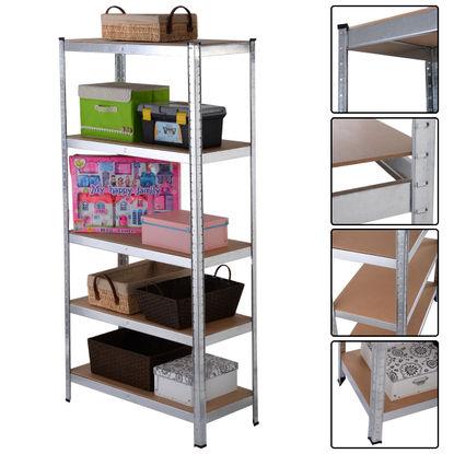 Costway 5 Level Heavy Duty Shelf Garage Steel Metal Storage Rack Adjustable Shelves (35.4''x15.7''x70.8'') for $33.99 w/15% off coupon @ Rakuten