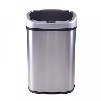 New 13-Gallon Touch Free Sensor Automatic Touchless Trash Can Kitchen Office for $34.39 w/coupon+ FS @ eBay