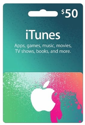 $50 iTunes gift card (physical card) for $43.49 + FS @ Rakuten