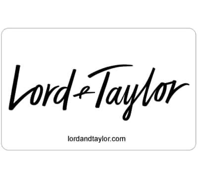 $50 Lord & Taylor Gift Card for $40 - Fast Email Delivery @ eBay