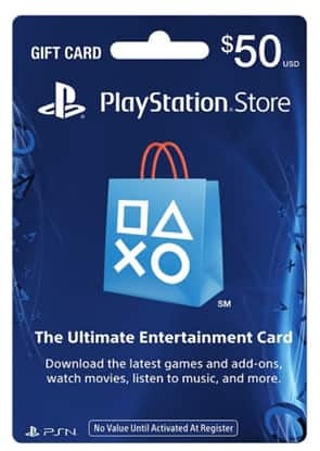 $50 PlayStation store gift card (physical card) for $42.39 w/20% coupon + FS @ rakuten