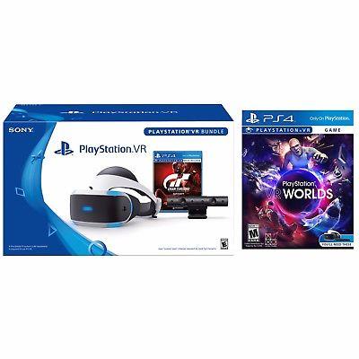 PlayStation VR GranTurismo Sport Bundle + PSVR-VR Worlds - PlayStation 4 for $299.99 + FS Newegg via eBay