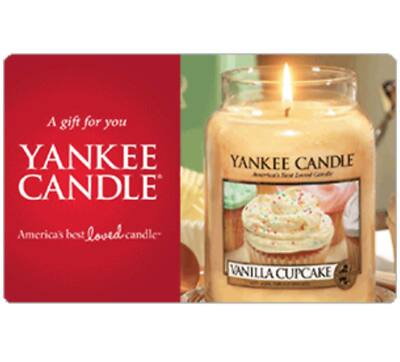 $50 Yankee candle gift card for $40 + email delivery @ eBay