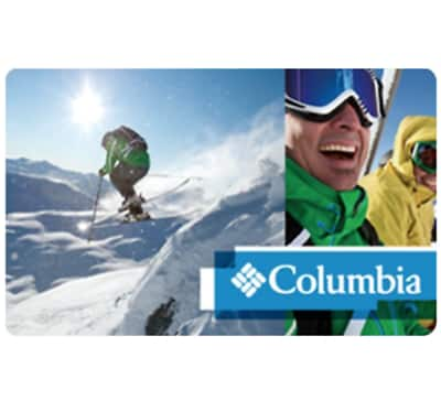 $100 Columbia gift card for $87 + email delivery @ eBay
