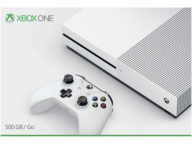 New Microsoft Xbox One S 500GB White Console for $155 w/coupon code + FS Newegg via eBay mobile app
