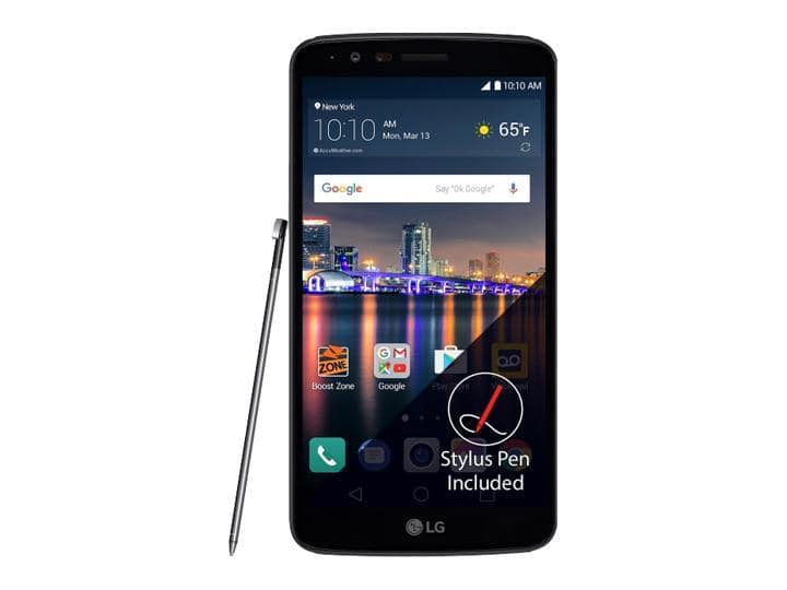 "LG Stylo 3 LS777 Boost Mobile (5.7"" 16GB 2GB RAM) 4G LTE Cell Phone - Black for $79.99 after $100 prepaid rebate card from boost Mobile + FS @ Newegg"
