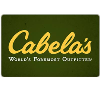 $100 cabela's gift card for $82 + email delivery @ eBay