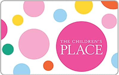 $50 children's place gift card for $40 + email delivery @ eBay