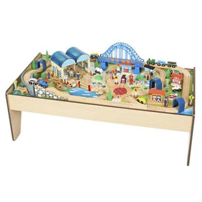 100 piece Imaginarium All-in-One Wooden Train Table for $47.59 w/coupon code + FS @ Rakuten