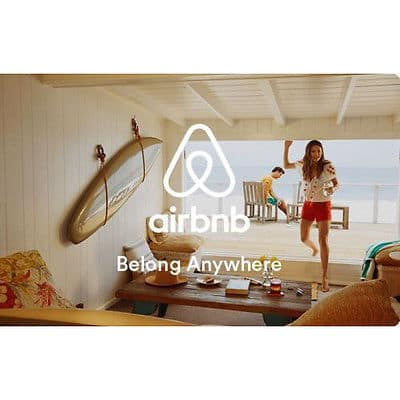 $100 Airbnb gift card for $90 + email delivery @ eBay