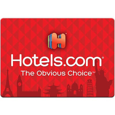 $100 Hotels.Com gift card for $90 + free shipping svmgiftcards via eBay