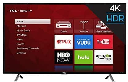 "TCL 49S405 - 49"" Roku Smart 4K 120Hz UHD HDR HDTV for 309.99 w/coupon code + FS @ Rakuten"