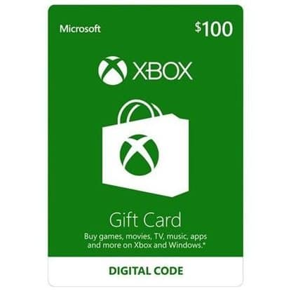 Microsoft Xbox  $100 Gift Card for $85 w/coupon code (Email Delivery) @ Rakuten
