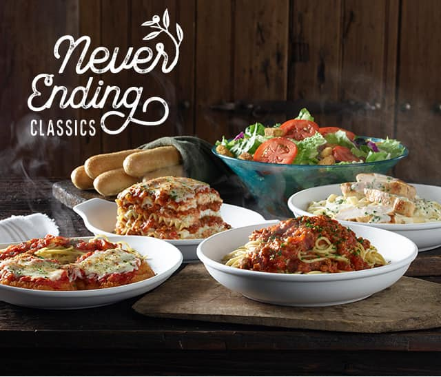 Olive Garden Is Offering Their Never Ending Classics W Soup Or Salad And Breadsticks Starting