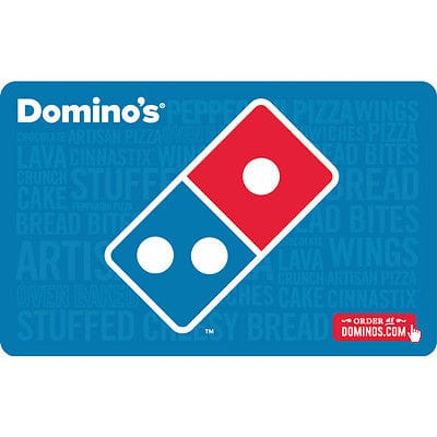 $25 Domino's gift card for $20 + FS svmgiftcards via eBay