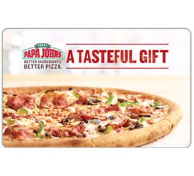 $50 Papa John's gift card for $42.50 + email delivery @ eBay