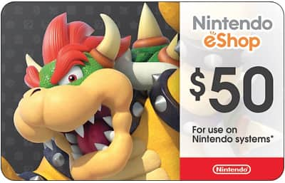 $50 Nintendo gift card for $42.50 + email delivery @ eBay