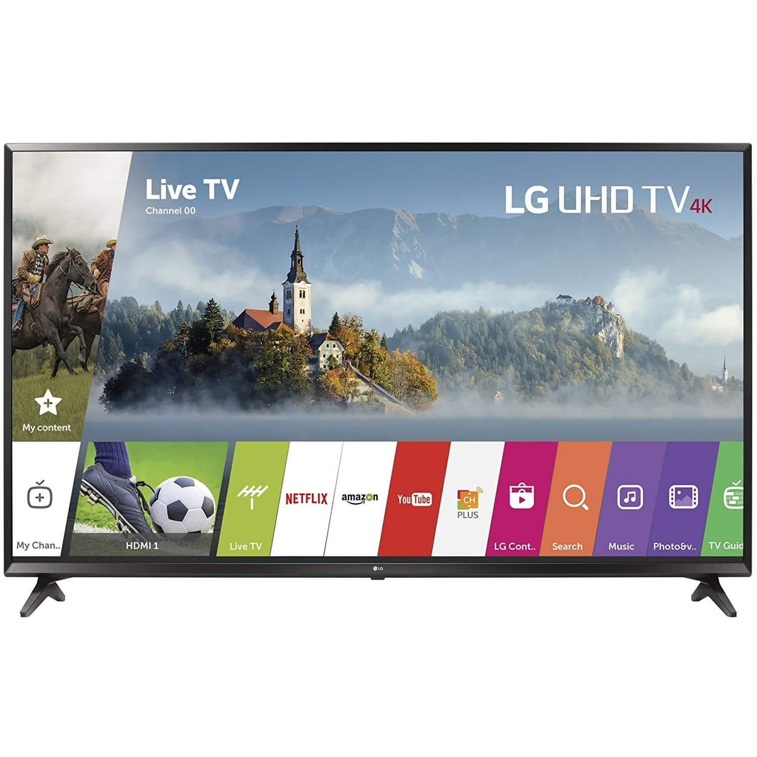 LG 49UJ6300 - 49 UHD 4K HDR SMART LED TV (2017 MODEL) for $325 w/coupon code + FS @ rakuten