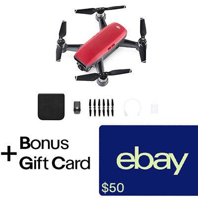 DJI Spark Lava Red Quadcopter Drone + $50 eBay Gift Card for $399 + FS @ eBay