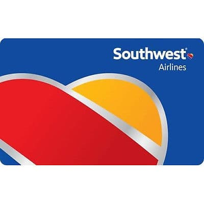 $100 Southwest airlines gift card for $92 + email delivery @ eBay